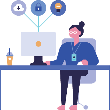 Image concept of a woman researching additional business funding options